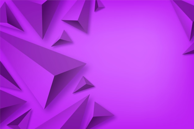 Klarer dreieckhintergrund der farben 3d