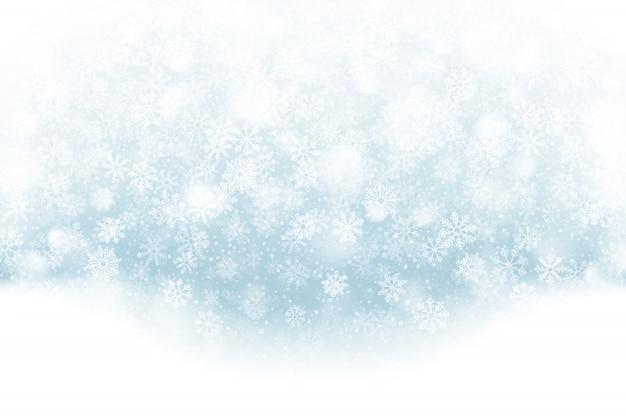 Klarer weihnachtseffekt bei fallendem schnee