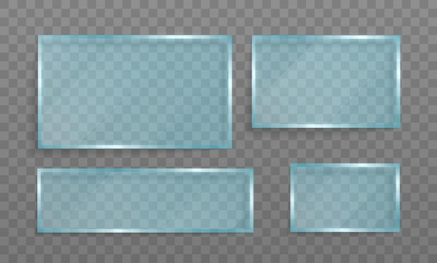 Klarglasbanner. acryl- und glasstruktur mit blendung und licht.