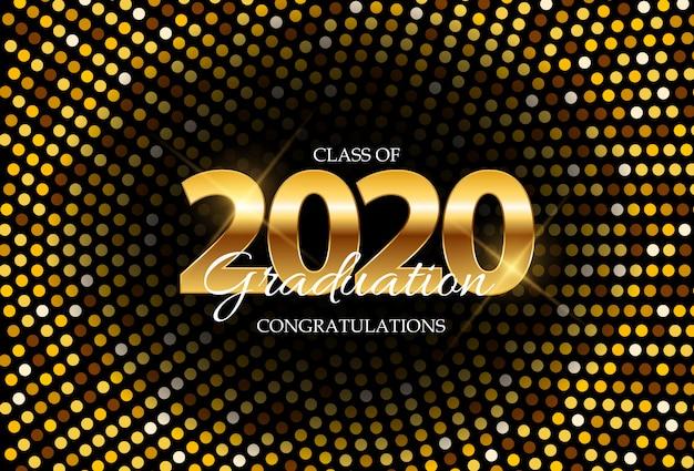Klasse von 2020 graduarion education hintergrund. illustration