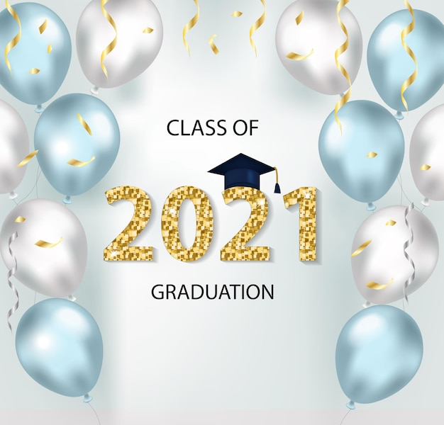 Klasse von 2021 abschluss glückwunschschablone