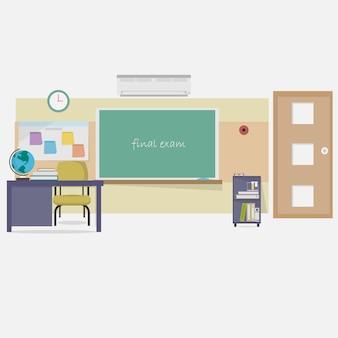 Klassenzimmer hintergrund-design