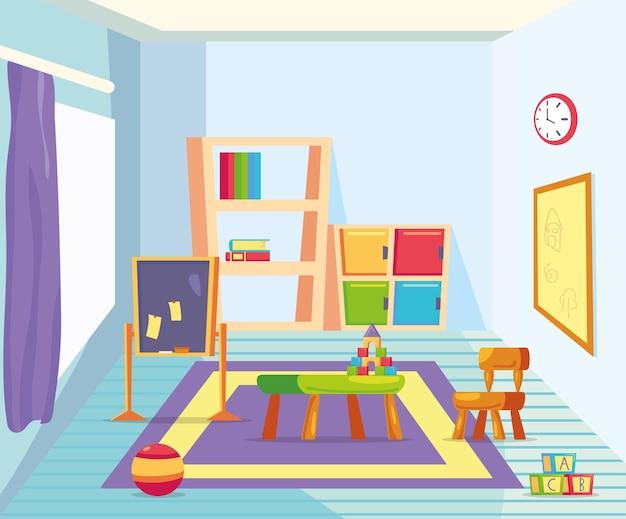 Klassenzimmer kindergarten ikonen
