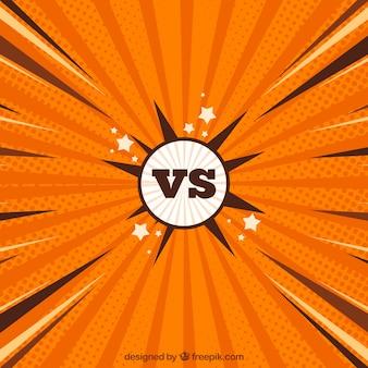 Klassisch versus bakcground mit flachem design