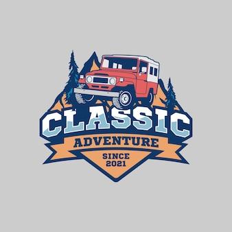 Klassische abenteuer-logo-vorlage