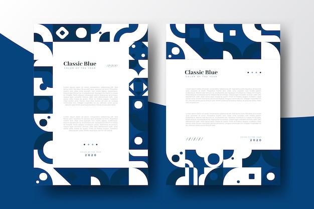 Klassische abstrakte blaue plakatschablone