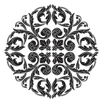 Klassische barockverzierung. dekoratives gestaltungselement filigran.