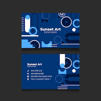 Klassische blaue abstrakte visitenkartenschablone