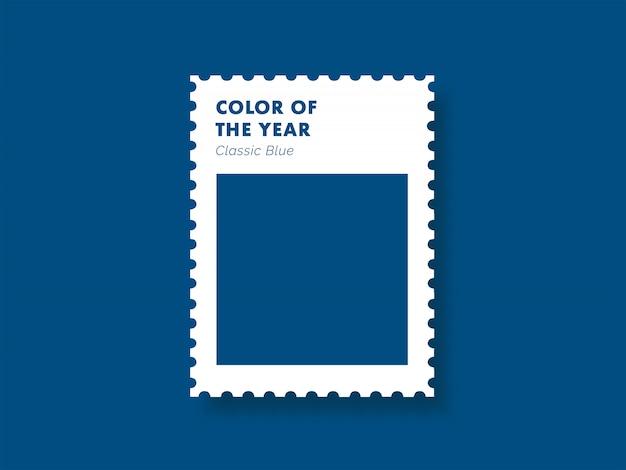 Klassische blaue farbe des jahres