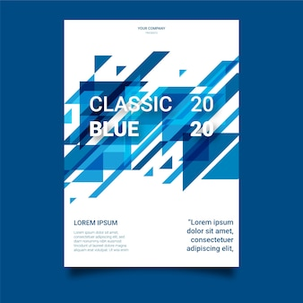 Klassische blaue flyer vorlage