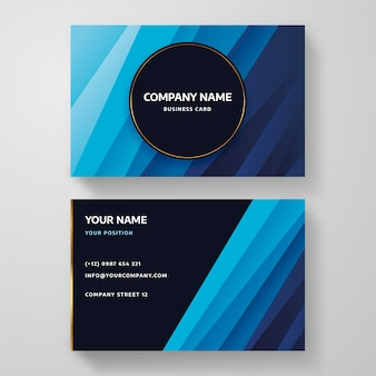 Klassische blaue visitenkarte