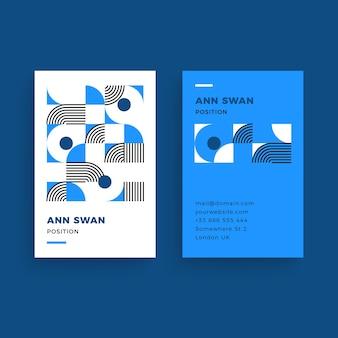 Klassische blaue visitenkarteschablone