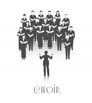 Klassische chorperformance