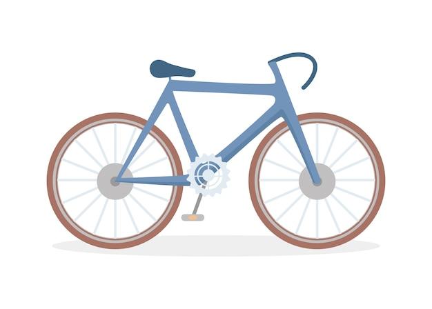 Klassische fahrradflachillustration isoliert.