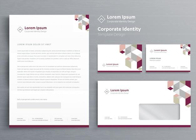 Klassische geschäftsausstattung corporate identity-vorlage