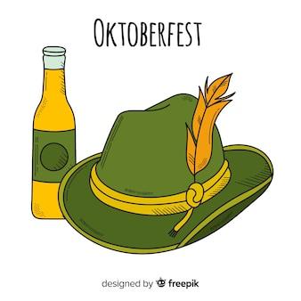 Klassische Hand gezeichnete oktoberfest Zusammensetzung