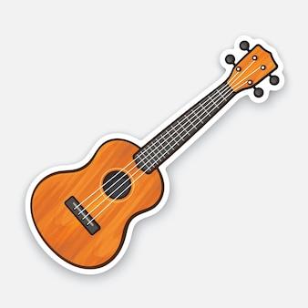 Klassische holzgitarre saite gezupftes musikinstrument vektor-illustration