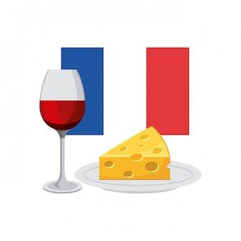 Klassische kultur frankreichs flagge