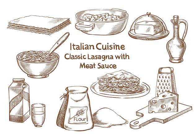 Klassische lasagne mit fleisch