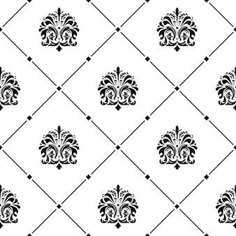 Klassische luxus altmodische verzierung nahtlose textur