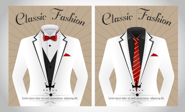 Klassische mode business-anzug-vorlage