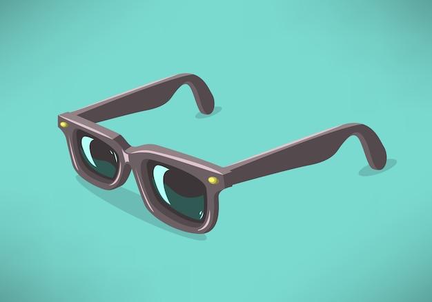 Klassische modell-sonnenbrille auf festem hintergrund.