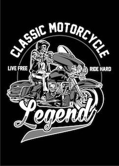 Klassische motorrad-legende