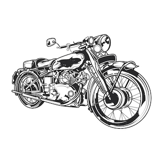 Klassische motorradillustration