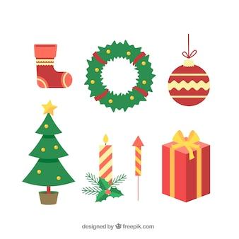 Klassische packung von weihnachten ergänzt