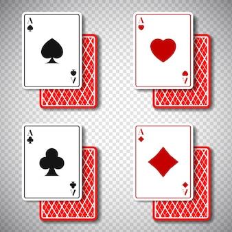 Klassische poker casino-karten