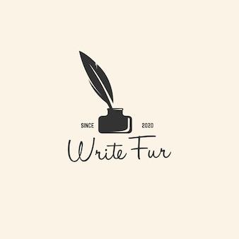 Klassische schreiblogo-designvorlage