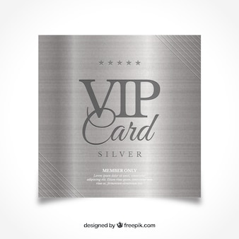 Klassische silberne vip-karte