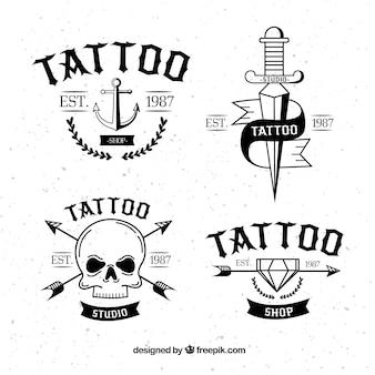 Klassische tattoo-logo-kollektion