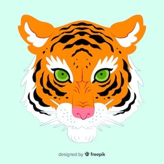 Klassische tigergesicht compositio