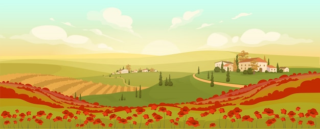 Klassische toskanische landschaft