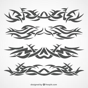 Klassische tribal tattoo-kollektion