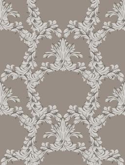 Klassische verzierung dekor hintergrund textur. vektor vintage grunge hintergrund