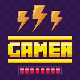 Klassische videospiel-power-strahlen