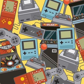 Klassische videospiele und konsolen-unterhaltung