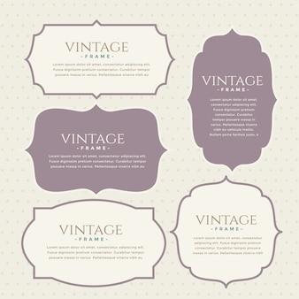 Klassische vintage etiketten set design