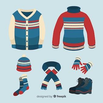Klassische winterkleidung collectio