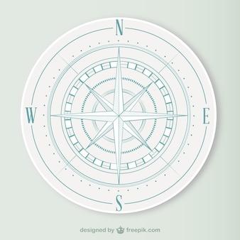 Klassischen kompass vektor