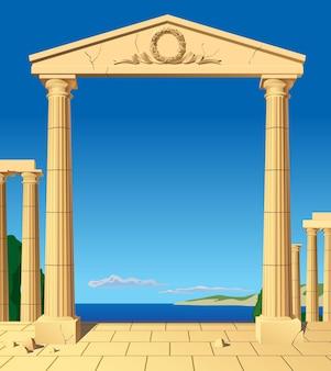 Klassischer antiker eingang
