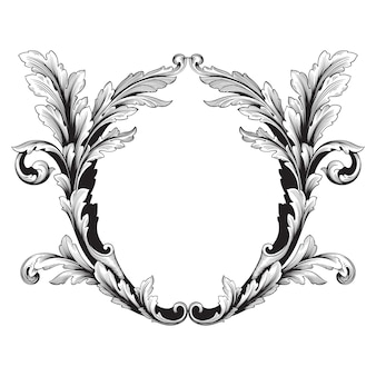 Klassischer barock des vintage-elements. filigrane kalligraphie des dekorativen gestaltungselements.