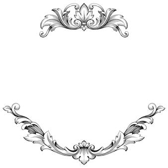 Klassischer barock des weinleseelements für design. filigrane kalligraphie des dekorativen gestaltungselements.