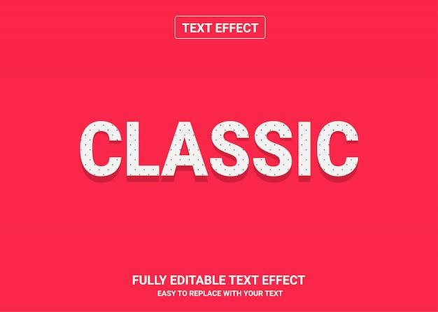 Klassischer bearbeitbarer textstileffekt