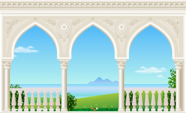 Klassischer bogen des palastes