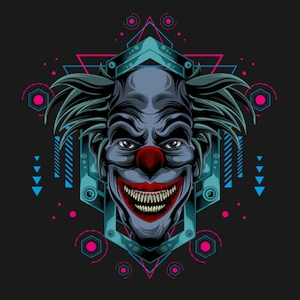Klassischer dunkler clown