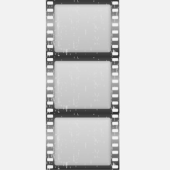 Klassischer filmstreifen auf weiß