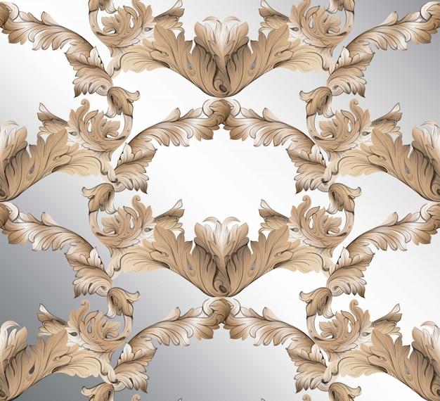 Klassischer glänzender musterhintergrund des damastes. ornament dekor für einladung, hochzeit, grußkarten. vektor-illustrationen